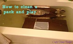 Crafty Honey Badgers: How to clean a pack and play