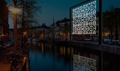 An impression of MYTH, an installation by Ben Zamora for the Amsterdam Light Festival