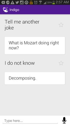 I just wanted to hear a joke...