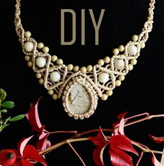How to Wrap a Stone and Make Macrame Necklace #DIY #Necklace #Macrame #Jewelry #Tutorial