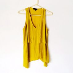 Rag and Bone Yellow Chartreuse Top Worn two times and has been dry cleaned. It is just a bit too small on me so I'm letting it go. No damage. I don't trade. rag & bone Tops