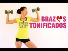 Rutina para principiantes 4 - Tonificar BRAZOS contra flacidez - YouTube Pilates, Flabby Arms, Biceps And Triceps, Learning Spanish, Health Fitness, Women's Health, Fitness Motivation, Gym, Workout