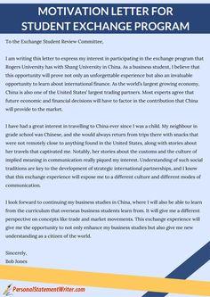Motivational Letter For University Admission
