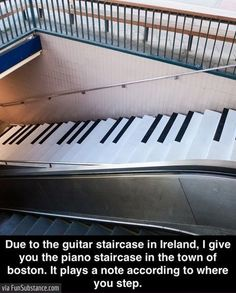 Piano staircase in boston - FunSubstance.com