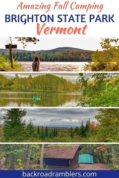 Looking for an amazing Vermont vacation idea this fall? Try fall camping at Brighton State Park in Island Pond VT. This quiet park is fabulous for fall foliage, hiking, and paddling, plus it's a fantastic homebase for exploring the Northeast Kingdom during autumn! Best Rv Parks, Family Vacation Destinations, Travel Destinations, New England Travel, Back Road, Travel Usa, Travel Tips, Autumn, Fall