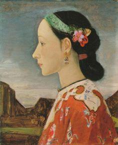 Fujishima Takeji Profile of a Woman 1926-27 POLA MUSEUM OF ART