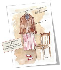 My favourite outfit! W&N watercolour on Bockingford 300gsm - ©Maree Clarkson