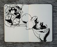 365 Days Of Doodles – Les superbes illustrations de Gabriel Picolo (image) Graffiti Art, Graffiti Drawing, Vexx Art, Ink Art, Mural Art, Cool Drawings, Drawing Sketches, Gabriel Picolo, Man Sketch