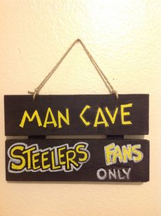 Pittsburgh Steelers Man Cave Sign by UNameitCA on Etsy, $10.00