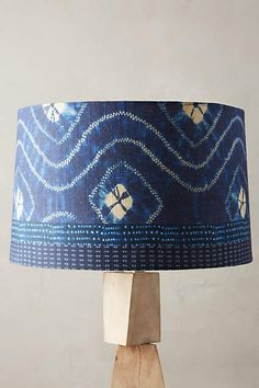 Indigo Waves Lamp Shade - anthropologie.com