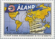 Sello: The Cape Horn congress (Åland Islas) Mi:AX 55,Yt:AX 56,AFA:AX 55