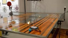 ping-pong table // http://motywatory.ruszamysie.pl