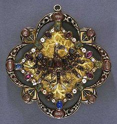 Reliquary clasp, mid 14th century, Europe.