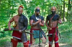Eastern Woodland Indians. Native American War Party.