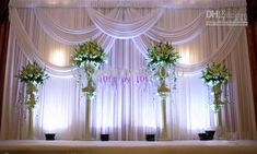 Wholesale New Arrival 3MX3M White Wedding Backdrop Curtain with Swags Wedding Stage Decor, $137.79/Piece | DHgate Mobile