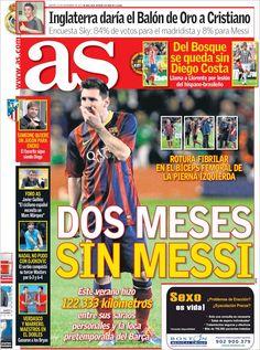 Los Titulares y Portadas de Noticias Destacadas Españolas del 12 de Noviembre de 2013 del Diario AS ¿Que le pareció esta Portada de este Diario Español?