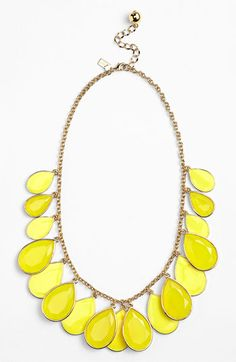 kate spade new york 'petal pusher' bib necklace available at #Nordstrom