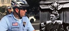 "Can You Spot The Nazi Tattoo On This Philly Cop? Click to see full photo. A viral photo of a Philadelphia police officer with a Nazi eagle tattooed to his arm has been causing a stir on social media networks. Now, you might say, many cultures have used eagle imagery in their hearldic icons, but only Nazi Germany used a right-facing eagle – and nobody else has used that design since then, for obvious reasons. Throw in the fact that this guy has ""Fatherland"" tattooed"