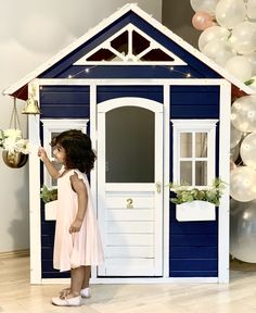 Kmart $199 Cubby House Hack Cubby Houses, Dog Houses, Play Houses, Costco Playhouse, Playhouse Ideas, Bed Under Stairs, Kids Clubhouse, Backyard For Kids, Home Hacks