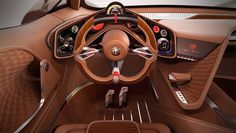 The Alfa Romeo Furia Supercar Concept Pays Homage to History Custom Car Interior, Car Interior Design, Interior Concept, Interior Sketch, Auto Design, Audi Tt, Ford Gt, Carros Alfa Romeo, Peugeot