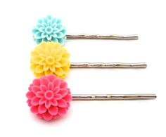 Colorful Cabochon Bobby Pins Resin Hair by FromtheHeartbyAmber, $11.00