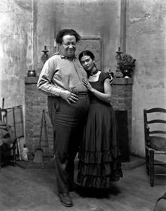 """I tried to drown my sorrows, but the bastards learned how to swim, and now I am overwhelmed by this decent and good feeling.""  ― Frida Kahlo (Here with Diego Rivera)"
