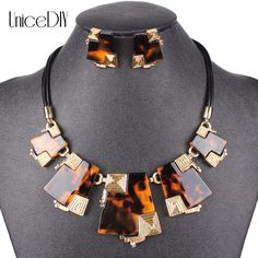 MS20336 Fashion Jewelry Sets High Quality Necklace Sets For Women Jewelry Multicolored Resin Unique Design Gift