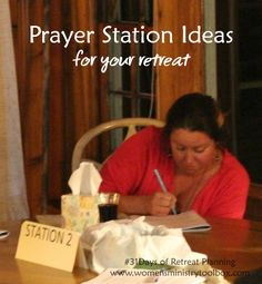 Prayer Station Ideas for Your Retreat? I've got tips and a resource list for you at Women's Ministry Toolbox.Looking for Prayer Station Ideas for Your Retreat? I've got tips and a resource list for you at Women's Ministry Toolbox. Prayer Ministry, Church Ministry, Youth Ministry, Ministry Ideas, Ministry Leadership, Leadership Tips, Prayer Wall, Prayer Room, Womens Ministry Events