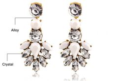 Cheap earrings cherries, Buy Quality earring tray directly from China earring fittings Suppliers: Hot Sale High Quality Round White Crystal Acrylic Stud Earrings Irregular Geometric Figure Large Heavy Water Earrings Women Jewelry Shop, Jewelry Accessories, Jewelry Design, Statement Earrings, Women's Earrings, Crystal Earrings, Fashion Earrings, Fashion Jewelry, Women Jewelry