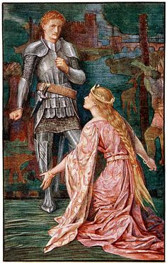 The Fight for the Queen - The Book of Romance by Andrew Lang, 1902