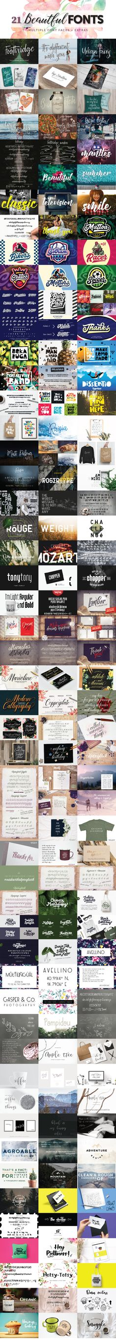 21 Beautiful Fonts This collection contains that lovely look you've been searching for. These days, a high-quality, beautiful font can be hard to find. But today is your lucky day! Each and every fon