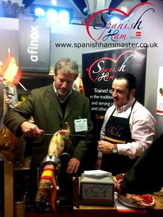 Just come back home from The Food and Drink Trade Show in Chentelham. Thank you to all the people that has visited our stand! Have been really good days! We will show you more pictures very soon! Jamón Iberico de Bellota, Cebo y Jamón Serrano.  www.spanishhammaster.co.uk