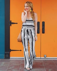 Stop by and pay a visit to darling Hannah's blog @hannahhagler She looks amazing in the Stripe Romper from @pbjboutique