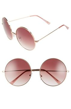 886ce725ae7 A.J. Morgan  Moonies  61mm Round Sunglasses available at  Nordstrom Round  Lens Sunglasses