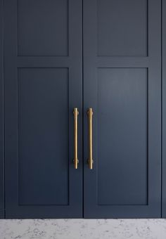 Take a look at our hardware installed on some of our client's beautiful projects for your own inspiration in the below gallery. Blue Kitchen Cabinets, Kitchen Cabinet Hardware, Kitchen Handles, Kitchen Cabinet Design, Cupboard Handles, Kitchen Cupboard, Cupboards, Kitchen Island, Bedroom Built In Wardrobe