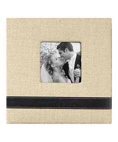 Another great find on #zulily! 'Together Forever' Burlap Photo Album #zulilyfinds
