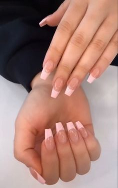 French Tip Acrylic Nails, Acrylic Nails Coffin Short, Simple Acrylic Nails, Square Acrylic Nails, Best Acrylic Nails, Acrylic Nail Designs, Acylic Nails, Classic Nails, Fire Nails