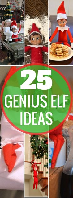 BEST Elf On The Shelf Ideas! Creative, fun, arrival ideas, and ideas for moving your Christmas Elf. Holiday activities for kids. Over a month of Elf ideas! | Elf on a shelf | Christmas Traditions | Elf activities | Naughty Elf | Holiday Season | Christmas ideas via @TheSavvyCouple