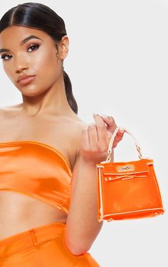 The Orange Wire Cup Detail Strappy Bodycon Dress. Head online and shop this season's range of dresses at PrettyLittleThing. Express delivery available. Cross Shoulder Bags, Shoulder Backpack, Mini Handbags, Purses And Handbags, Luxury Handbags, Perrie Edwards Style, Leather Bum Bags, Black Envelopes, Womens Purses