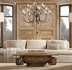 love one cushion couches - could totally sew one up!!!!!  I need some of that fab Restoration Hardware LINEN.