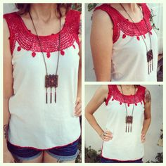 Mexican Manta hand embroidered top size: XS