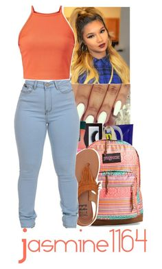 """""""School Starts Soon Lowkey Happy"""" by jasmine1164 ❤ liked on Polyvore featuring CO, BBrowBar, JanSport and Billabong"""