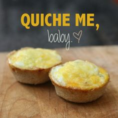 These quiches are so easy and fast portable and versatile. Can be eaten for breakfast or dinner, lunch or snack, warm or cold, Olive prefers them cold because they're a little firmer and gives her a...