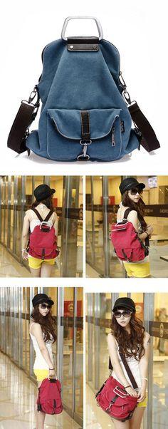 Unique Multi-function School Canvas Backpack Shoulder Bag for big sale! #school #backpack #college #student #bag