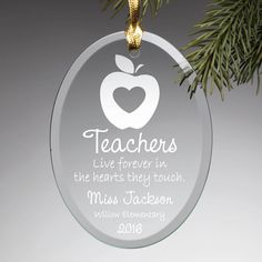 Give that special teacher a personalized ornament!