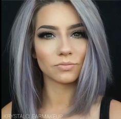 Gray Lace Frontal Wigs hair toner for gray hair – wigsshort Periwinkle Hair, Purple Hair, Hair Color And Cut, Cool Hair Color, Hair Colour, Hair Toner, Silky Hair, Great Hair, Hair Highlights