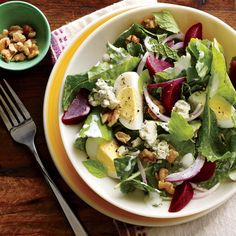 Kale and Beet Salad with Blue Cheese and Walnuts - Quick and Easy Salad Recipes - Cooking Light