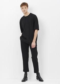 Lanvin Dropped Shoulder T-shirt (Black)
