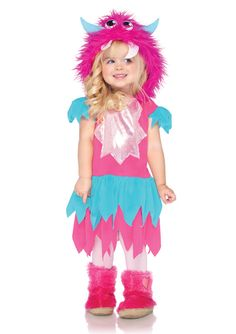 Sweetheart Monster Hooded Costume Dress Child Toddler