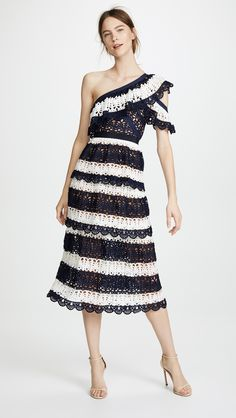 Find Self Portrait Striped Crochet Dress online. Shop the latest collection of Self Portrait Striped Crochet Dress from the popular stores - all in one Prom Dress Shopping, Online Dress Shopping, Dress Online, Plus Size Dresses, Cute Dresses, Prom Dresses, Fashion Nova Plus Size, Self Portrait Dress, Navy And White Dress